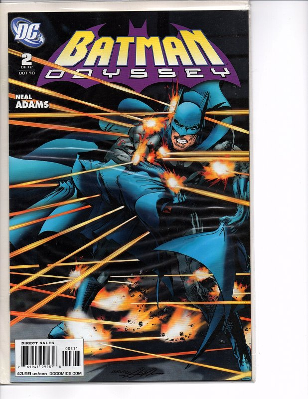 DC Comics Batman The Dark Knight #1 (2011) & Batman: Odyssey #2 Neal Adams Finch