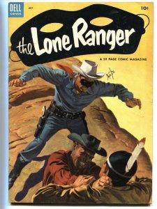 LONE RANGER #61-HIGH GRADE 1953-DELL TONTO  SILVER VF