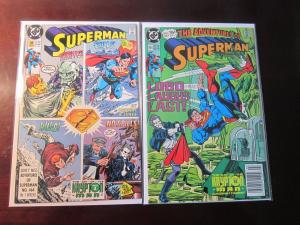 Superman (1987 2nd Series) #41 Part 1 and 2 - Krypton Man Set - 9.0 - 1990