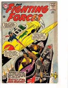 Our Fighting Forces # 81 VG/FN DC Comic Book Gunner & Sarge Silver Age J207
