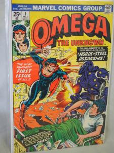 Omega the Unknown  1  VF/NM  condition.Unread. 1975 1st  Marvel Appearance !