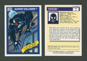 1990 Marvel Comics Card  #73 (Venom / 1st ever card Issue) / MINT