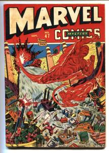 Marvel Mystery Comics #47 1943  Alex Schomburg WWII Human Torch cover