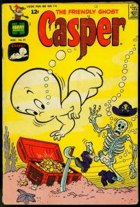 FRIENDLY GHOST, CASPER COMICS #91 1966-SKELETON-PIRATE COVER G/VG