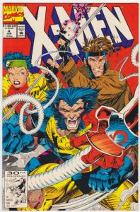 X-MEN #4 1992-MARVEL-WOLVERINE-FIRST OMEGA RED