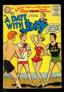 Date with Judy #55 1956- swimsuit & ice cream cover- DC  Humor- FAIR