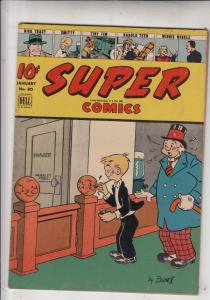 Super Comics #80 (Jan-45) FN/VF+ Mid-High-Grade Dick Tracy