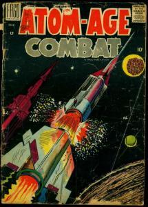 Atom-Age Combat #3 1959- Dick Ayers- Atom Bomb Explosions P/FR