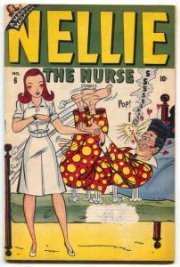 Nellie The Nurse #6 1947- Marvel Golden Age Teen Humor G/VG