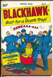 Blackhawk 1970's-Reprints Blackhawk #9 from 1944-color cover-NM