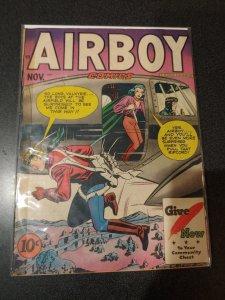 Airboy Comics Vol 4, #10 (Hillman, 1947) Fine Girl v Girl Catfight! Valkyrie