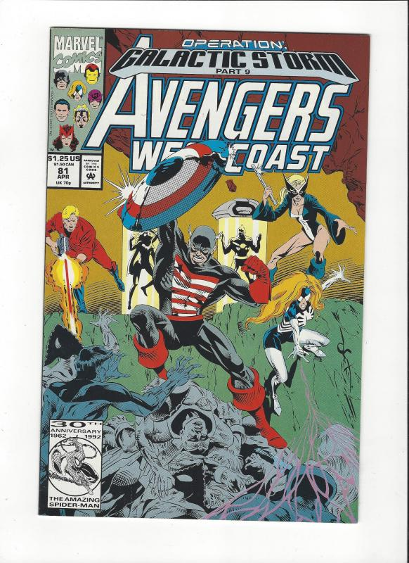 Avengers West Coast #81 Galactic Storm NM