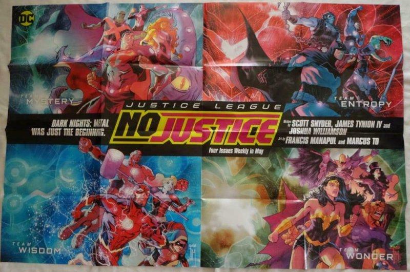 JUSTICE LEAGUE Promo Poster, 24 x 36, 2018, DC, FLASH, WONDER WOMEN Unused 189
