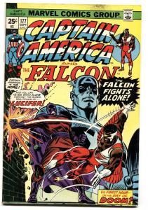 CAPTAIN AMERICA #177 comic book 1974-FALCON-LUCIFER VF