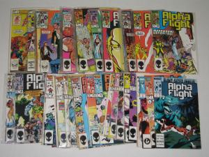 ALPHA FLIGHT LOT #1-52 + 2 ANNUALS-WOLVERINE X-MEN CANADA MAPLE LEAFS- VF/NM