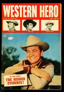 Western Hero Comics #99 1951- Fawcett- Tom Mix- Monte Hall- VG+