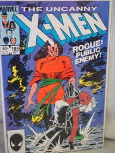 The Uncanny X-Men 185  VF/NM  condition.  Unread. 1984 . Rogue: Public Enemy