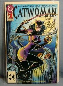 CATWOMAN #1 (DC Comics Aug 1993) AUTOGRAPHED W/ REMARK JOHN BALENT With COA L@@K