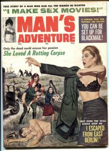 Man's Adventure Magazine December 1964- She Loved a Rotting Corpse