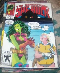 The Sensational She-Hulk #42  1992, Marvel JEN WALTERS green monsters