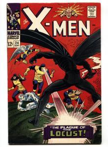 X-MEN #24 CYCLOPS-ANGEL-1966 MARVEL comic book silver-age VF