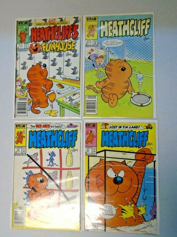 Heathcliff Star Comics 4 Different 8.0 VF (1985-1988)