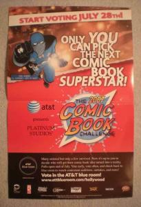 2007 COMIC BOOK CHALLENGE Promo Poster, 11x17, Unused, more Promos in store