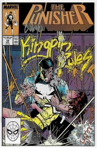 The Punisher #14 Signed by Whilce Portacio (Marvel, 1988) VF/NM