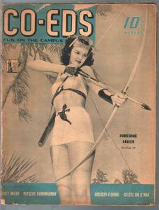CO-EDS Fun On Campus 8/1942-cheesecake-swimsuits-cartoons-pin-ups-FR