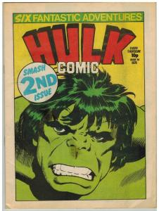 HULK (BRITISH WEEKLY) 2 (WITH CARDS) VF ORIGINAL HULK S