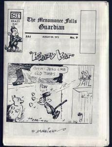 MENOMONEE FALLS GUARDIAN 9 VF-NM CAPTAIN EASY 1973 FEIF
