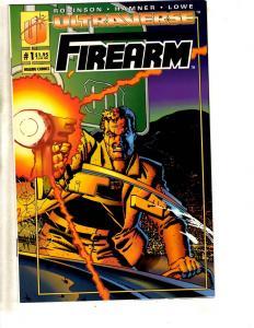 Lot Of 10 Firearm Malibu Comic Books # 1 2 3 4 5 6 7 8 9 10 Ultraverse CR28