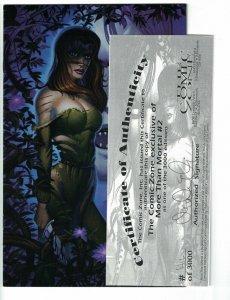 More Than Mortal #2 VF/NM virgin variant with COA (1412 of 3000) liar comics