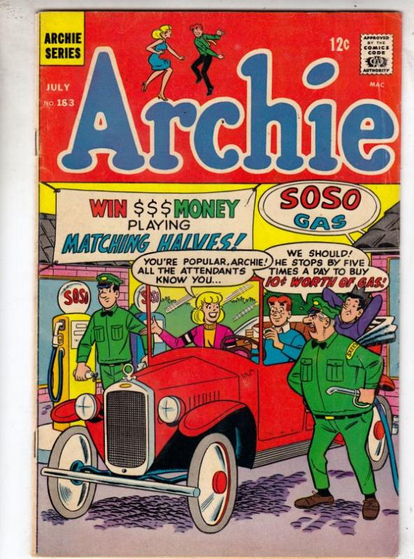 Archie #183 (Aug-84) FN/VF Mid-High-Grade Archie