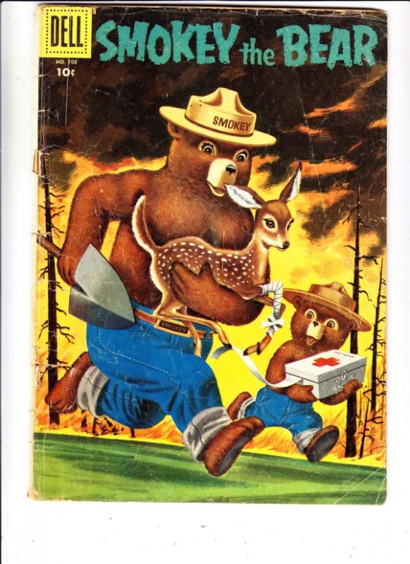 Four Color #708 (May-56) GD- Affordable-Grade Smokey the Bear