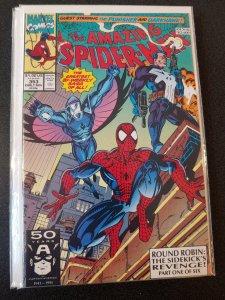 AMAZING SPIDER-MAN #353 (Nov 1991) PUNISHER DARKHAWK Mark Bagley art