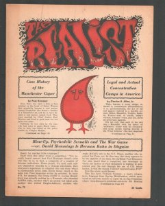 Realist #75 6/1967-Paul Krassner Counter culture mag-Underground comix type-FN