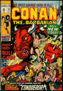 CONAN THE BARBARIAN #10-GIANT-WRATH OF THE BULL GOD VF