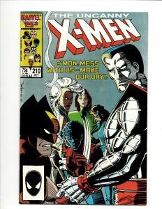Uncanny X-Men # 210 NM- Marvel Comic Book Wolverine Wendigo Storm Cyclops DS4