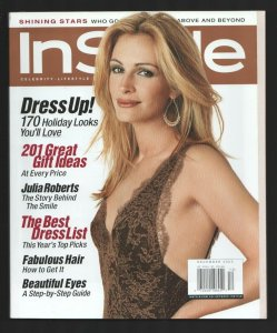 InStyle 12/2003-Julia Roberts cover-201 great gift ideas-Marcia Gay Harden-Al...