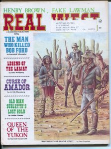 Real West 4/1969-Charlton-Earl Norem cover-Queen Of The Yukon-Bob Ford killer...