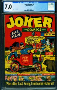 Joker #2 CGC 7.5 1942-Timely-Wolverton-1st Tessie Typist-2070172001