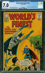 World's Finest Comics #128 (DC, 1962) CGC 7.0