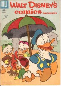 WALT DISNEYS COMICS & STORIES 201 VG-F June 1957 COMICS BOOK