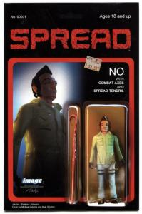 SPREAD #1-SECOND PRINT-HTF-GREAT COVER-IMAGE FIRST ISSUE