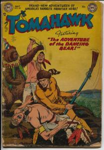 Tomahawk #24 1954-DC-Red Coats-Indian fight cover-G