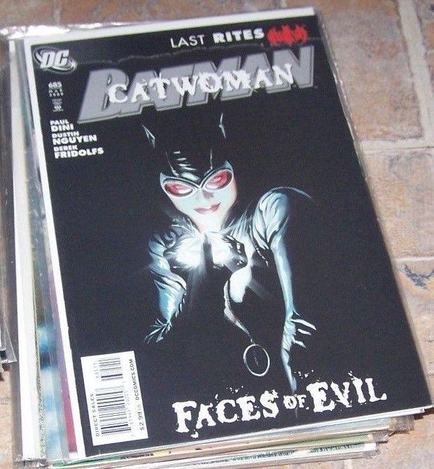 Batman #685 (Mar 2009, DC) faces of evil- catwoman-hush thomas elliott alex ross