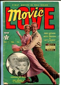 Movie Love #7 1951-Famous Funnies-Fred Astaire-Eve Arden-Betty Hutton-G