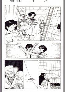 Ninja High School Vol. 2 #9 Page 12 Original Comic Book Art - Ben Dunn