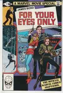 James Bond For Your Eyes Only # 1 Marvel Movie Special !!!!!